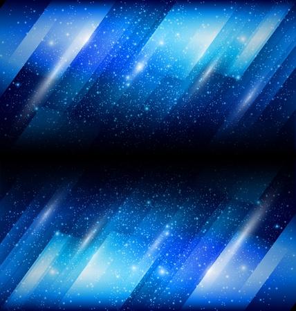 Vector Shiny blue background Illustration