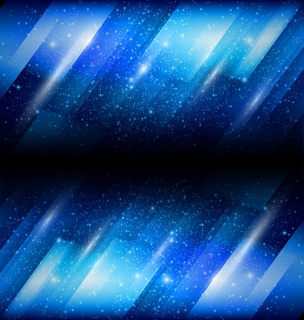 Vector Shiny blue background Illustration