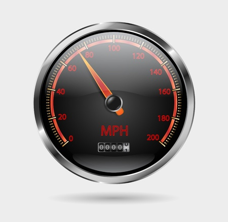 electric meter: speedometer vector Illustration