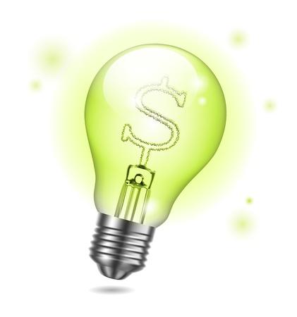 bright idea: vector bulb icon - Creative business idea Illustration