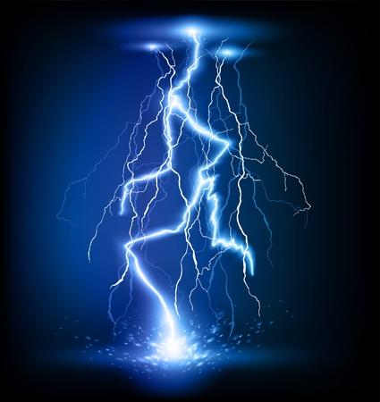 rayo electrico: Vector un rayo flash huelga fondo Vectores