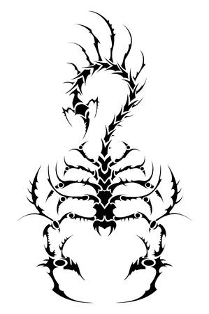 Vector tattoo scorpion