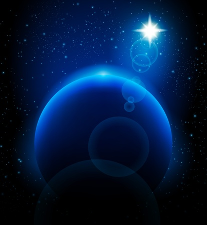 earth core: Vector Star and planet