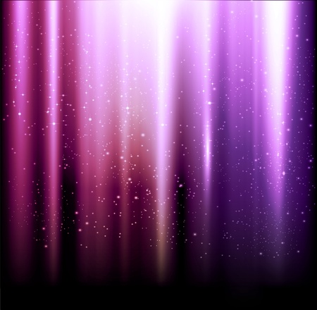 estrellas moradas: vector de fondo brillante