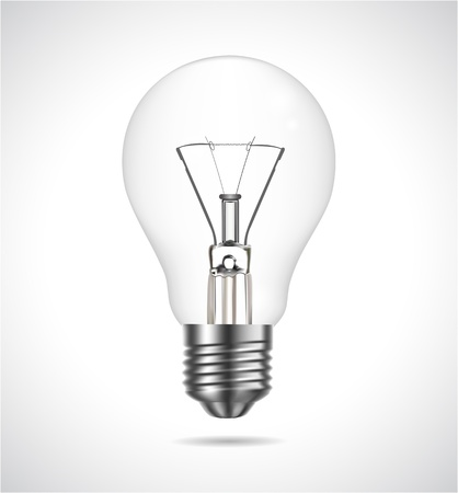 Vector realistic bulb on grey background Stock Vector - 12807560