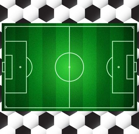 futbol soccer dibujos: F�tbol campo de f�tbol de vectores de la textura del bal�n sin problemas Vectores