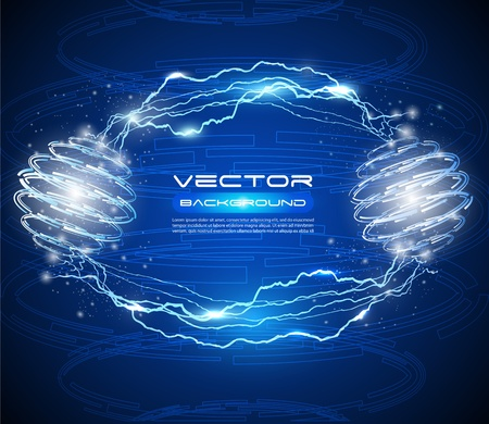 electric spark: de alta tecnolog�a de fondo abstracto del vector - idea creativa Vectores