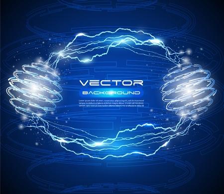 descarga electrica: de alta tecnología de fondo abstracto del vector - idea creativa Vectores