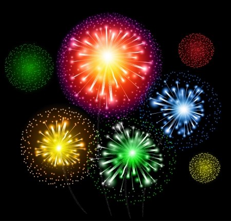 Fireworks Vector Background colorful explosion