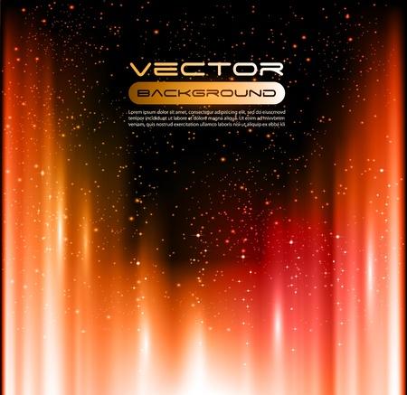 Vector burning aurora Shiny background