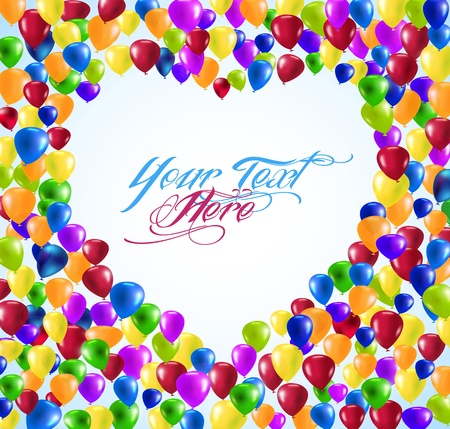love blow: vector colorful Heart shape balloons