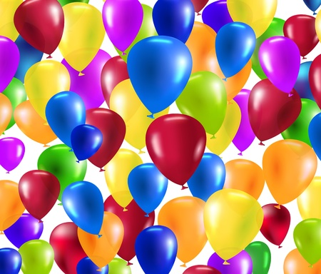 vector colorful balloons background texture Illustration