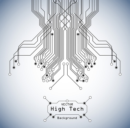 circuit high tech  board background Vector