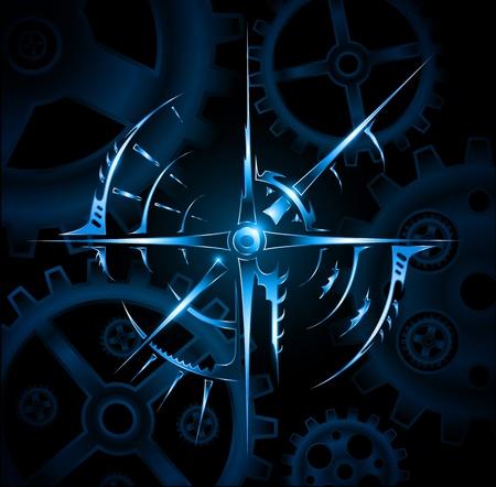 Abstract magic mechanic emblem vector Иллюстрация