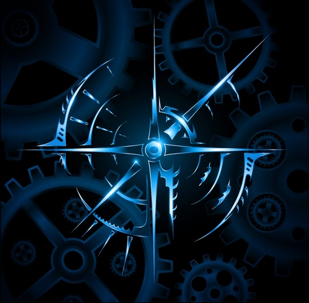 Abstract magic mechanic emblem vector Illustration