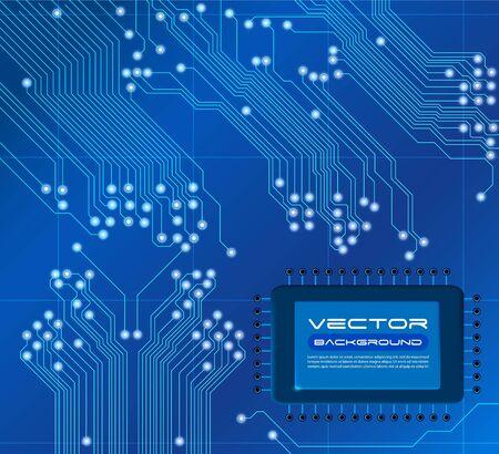 blue circuit board vector background Vector