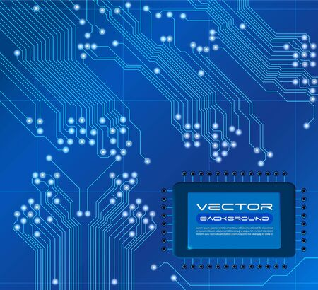 blue circuit board vector background