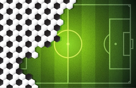 soccer vector background with soccer ball texture Vector