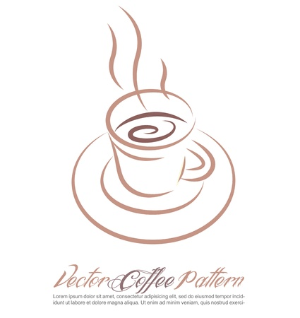 Coffee cup on white background Stock Vector - 12807543
