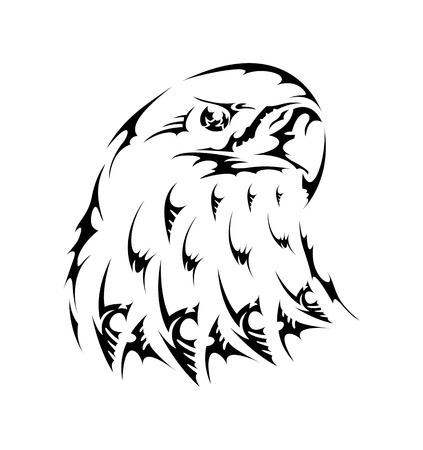 Vector tattoo bird tribal eagle emblem Vector