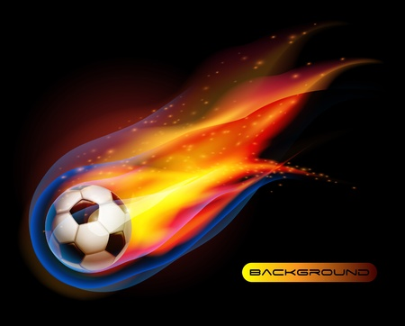 Fire Football soccer ball vector Vector