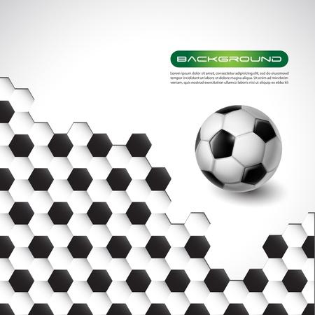 soccer ball vector banner background