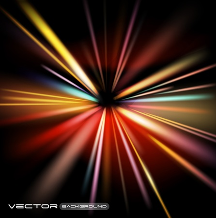 borealis: abstract night lights vector background
