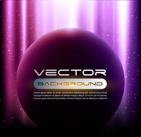 space shining planet background vector Stock Vector - 12807591