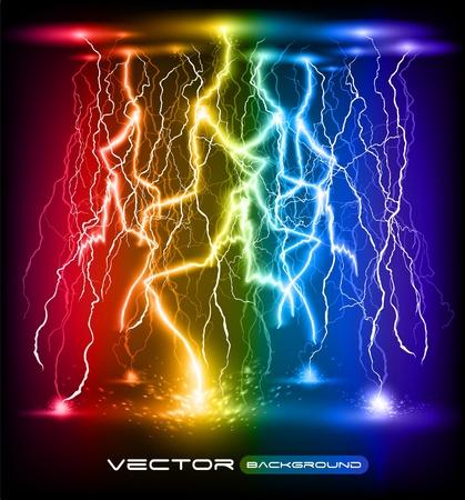 rayo electrico: vector de ataque relámpago de fondo