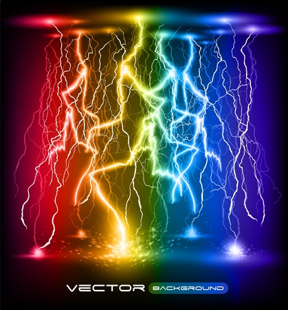 rainstorm: vector lightning flash strike background