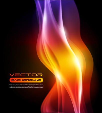 Abstract Vector Background flame - gradient mesh