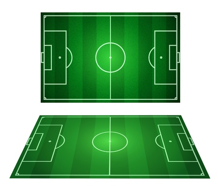 two Soccer fields - vector perspective Vector