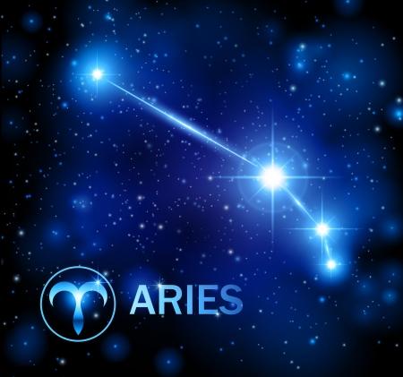 horoscope star sign - aries constellation Illustration