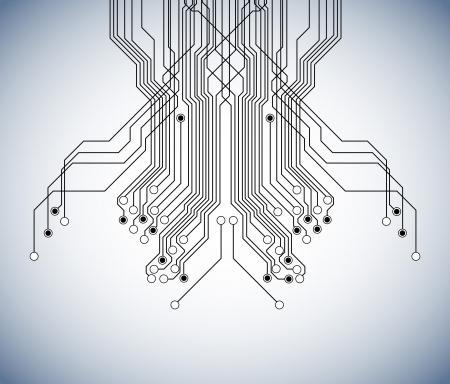 circuit board background Illustration