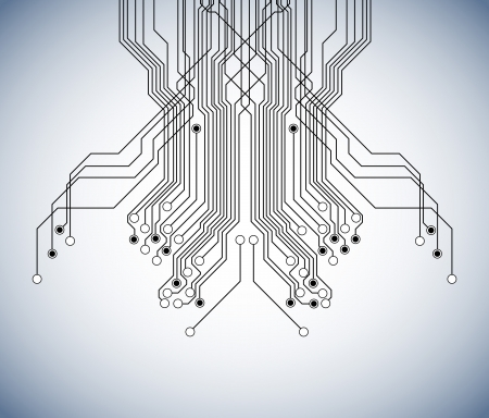 integrated: circuit board background Illustration