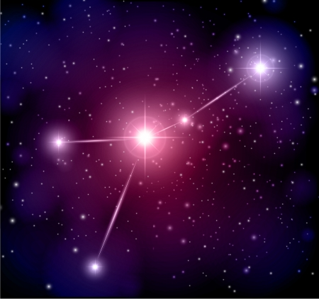 abstract space background Cancer constellation Illustration