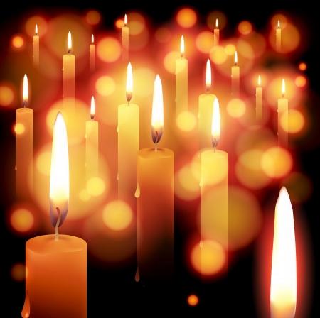 esperanza: luz de las velas de vacaciones de fondo