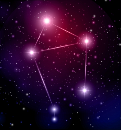 abstract space background with Libra constellation