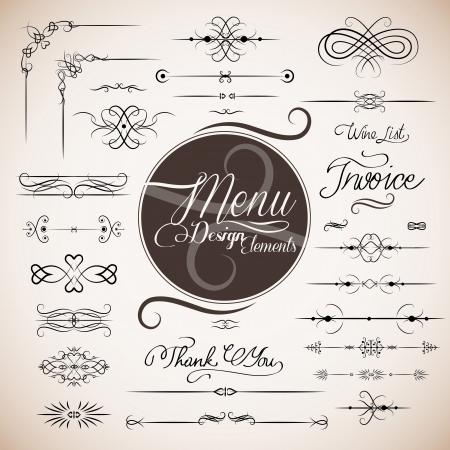 item list: Restaurant menu design template Illustration