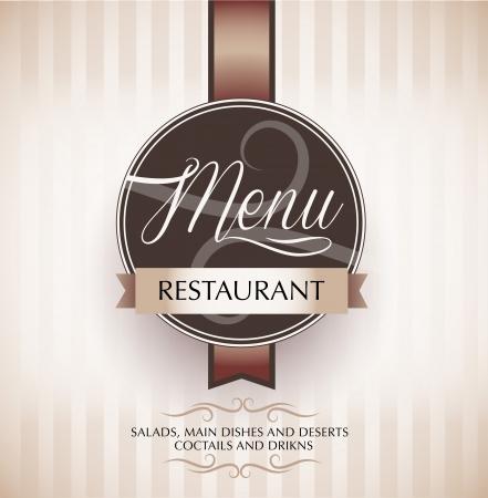 menu de postres: Men� del restaurante plantilla de dise�o - vector