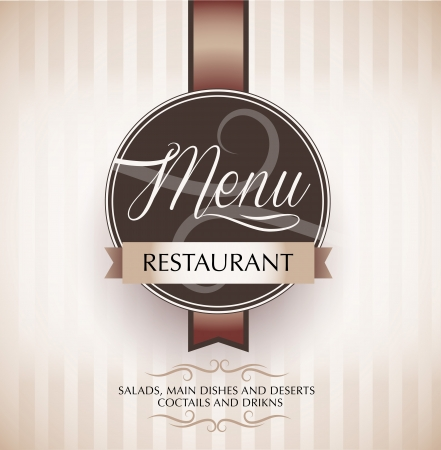 flayer: Restaurant menu design template - vector