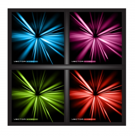 abstract lights background set