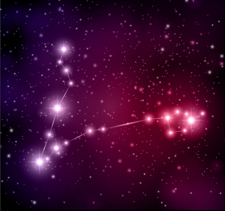 destiny: abstract space background Pisces constellation Illustration