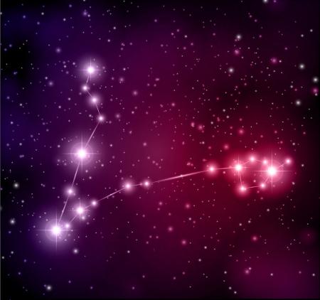 espacio abstracto de fondo constelación de Piscis Ilustración de vector
