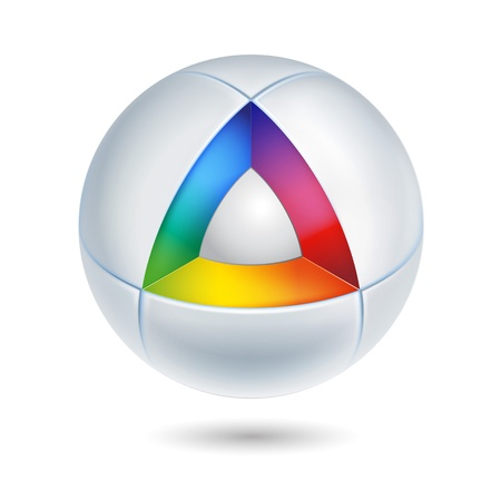 companies: high tech abstract icon - 3d Illustration