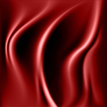 Smooth elegant red silk background. Red fabric.