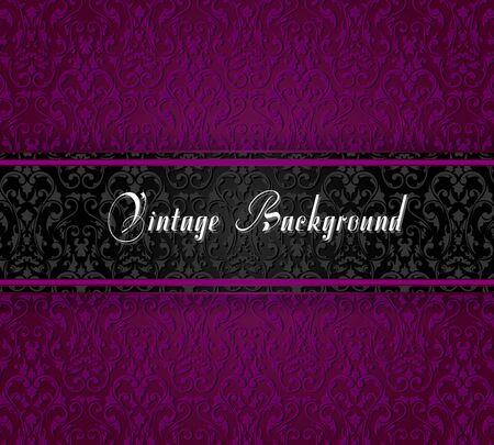 Elegant vintage card. Design background with ornate vintage pattern. Vector illustration