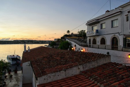 view es castells, a town near Mahon, at sunrise Editorial