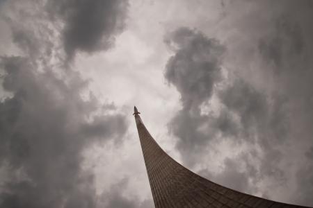 suspens: Monument le premier vol de l'homme dans l'espace Banque d'images