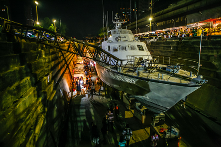 shipbuilder: The Great Outdoor Market Bangkok Dockyard. This place was converted to be the market for 3 day only for a year. Editorial